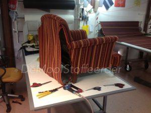 herbekleden fauteuil i