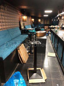Bekleden barkrukken en panelen Cafe Bak te Heerenveen4
