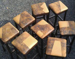 herbekleden barkrukken (2)